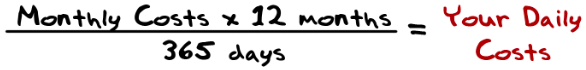 daily cost equation
