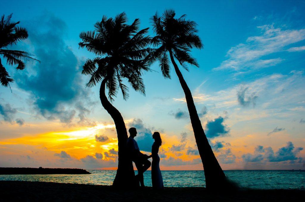 Newlyweds on a honeymoon