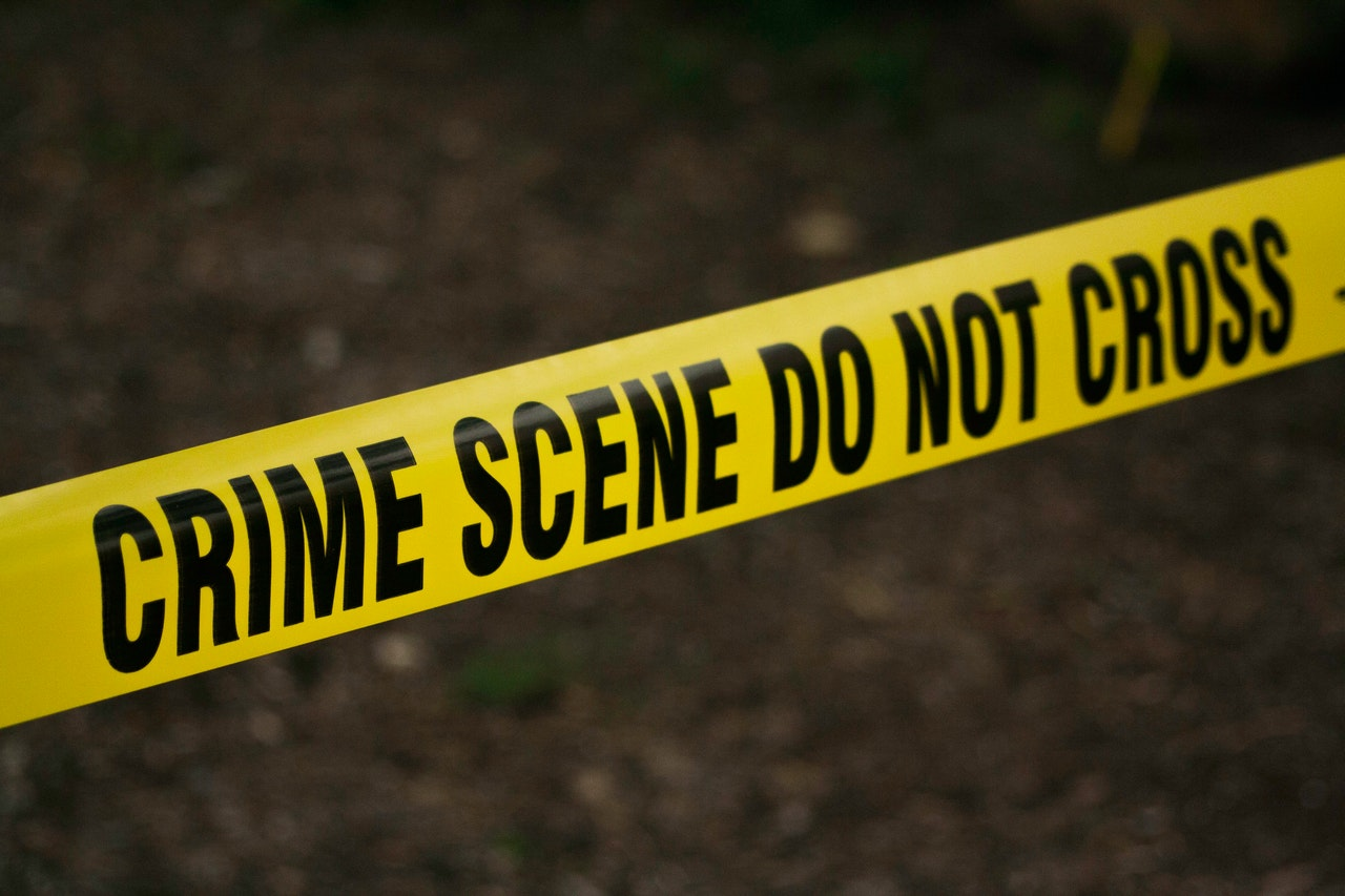 Crime scene tape due to social security card theft